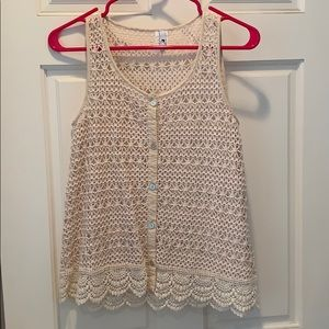 Crochet loose fitting tank